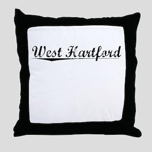 West Hartford, Vintage Throw Pillow