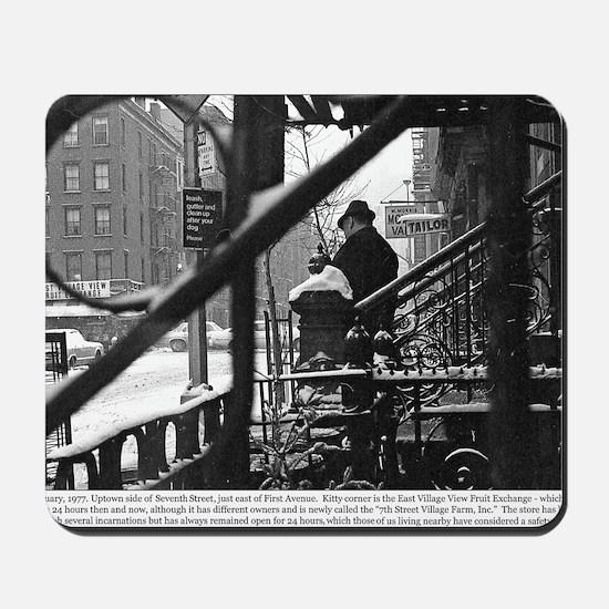 January 1977 - 7th Street and !st Ave NY Mousepad