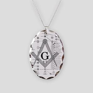 Masonic Bodies Necklace Oval Charm
