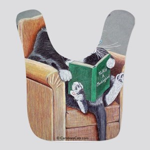 Reading Cat Bib