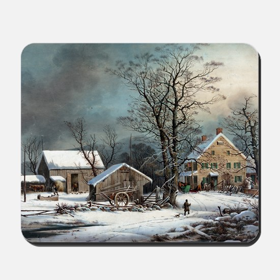 Winter in the Country Mousepad