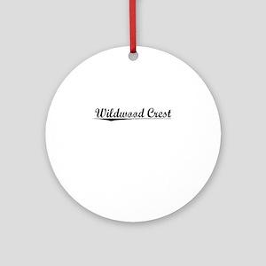 Wildwood Crest, Vintage Round Ornament