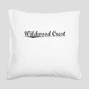 Wildwood Crest, Vintage Square Canvas Pillow