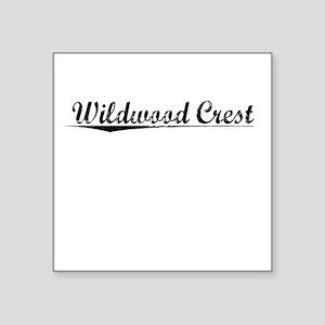 "Wildwood Crest, Vintage Square Sticker 3"" x 3"""