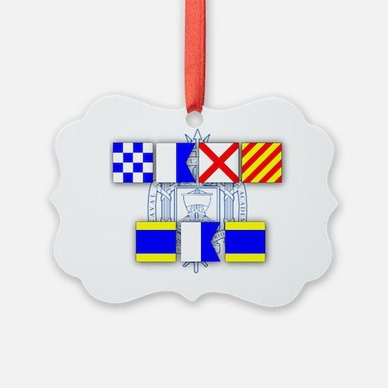 Navy Dad Ornament