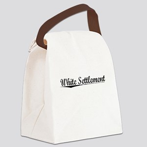 White Settlement, Vintage Canvas Lunch Bag
