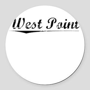 West Point, Vintage Round Car Magnet