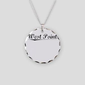 West Point, Vintage Necklace Circle Charm