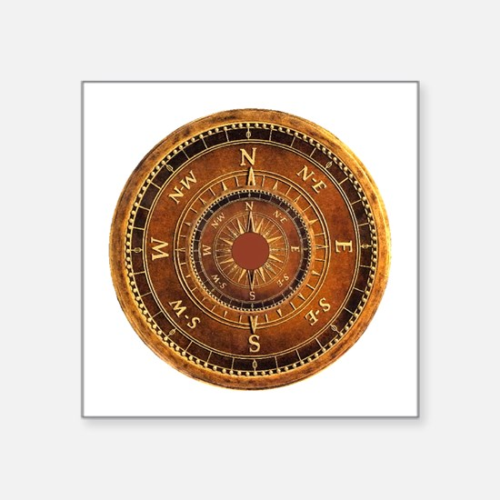 Compass Rose in Brown Sticker