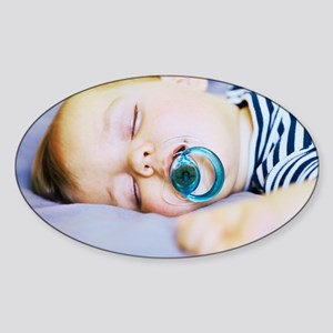 Sleeping baby boy Sticker (Oval)
