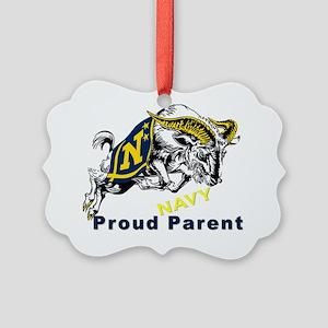 Proud USNA Parent Picture Ornament