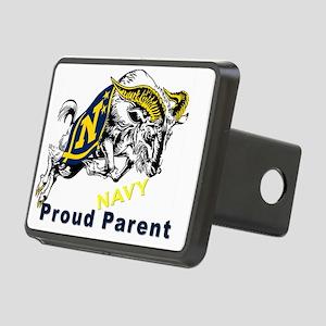 Proud USNA Parent Rectangular Hitch Cover