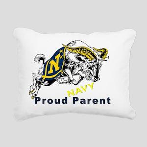 Proud USNA Parent Rectangular Canvas Pillow