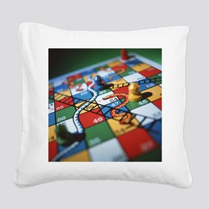 Snakes and ladders Square Canvas Pillow