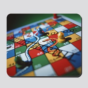 Snakes and ladders Mousepad