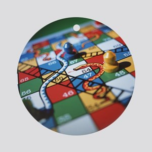 Snakes and ladders Round Ornament