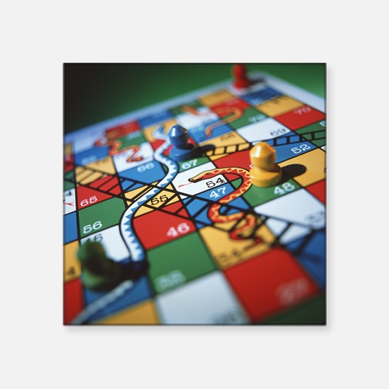 "Snakes and ladders Square Sticker 3"" x 3"""