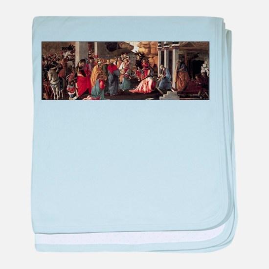 Adoration of the Magi - Botticelli baby blanket