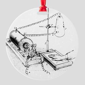 Art of Roentgen's X-ray apparatus f Round Ornament