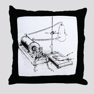 Art of Roentgen's X-ray apparatus for Throw Pillow