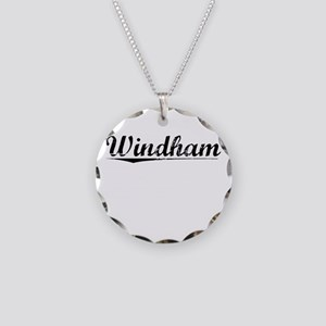 Windham, Vintage Necklace Circle Charm
