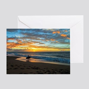 Polihale Sunset Greeting Card