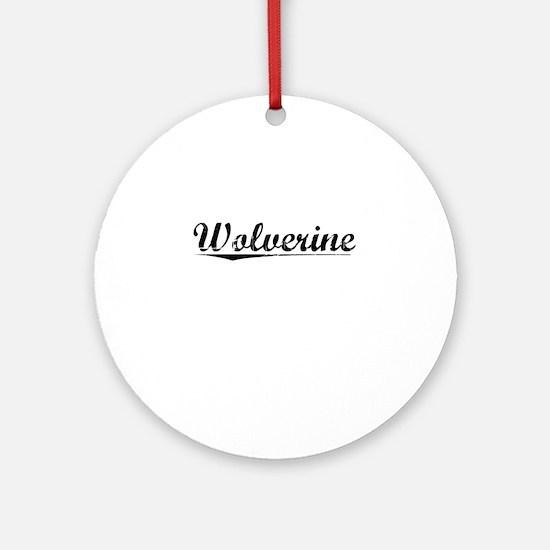 Wolverine, Vintage Round Ornament