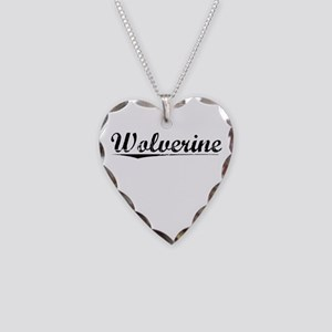 Wolverine, Vintage Necklace Heart Charm