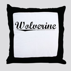 Wolverine, Vintage Throw Pillow