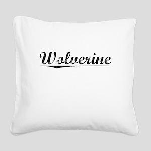Wolverine, Vintage Square Canvas Pillow