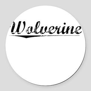 Wolverine, Vintage Round Car Magnet