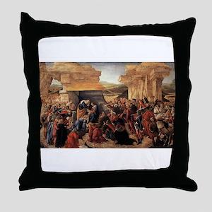 Adoration of the Magi 2 - Botticelli Throw Pillow