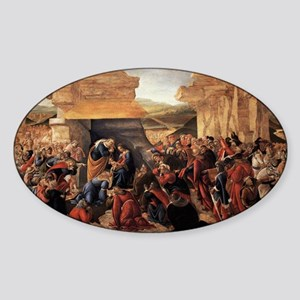 Adoration of the Magi 2 - Botticelli Sticker (Oval