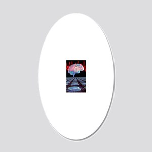 Abstract artwork of human br 20x12 Oval Wall Decal