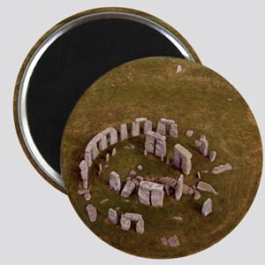 Aerial view of Stonehenge Magnet