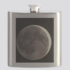 2 day old Moon with earthshine Flask