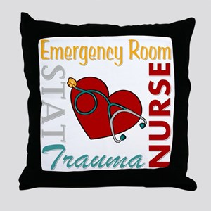 ER Nurse Throw Pillow