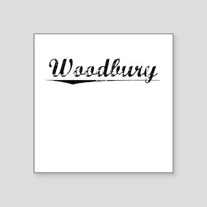 "Woodbury, Vintage Square Sticker 3"" x 3"""