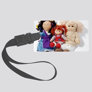 Soft dolls Large Luggage Tag