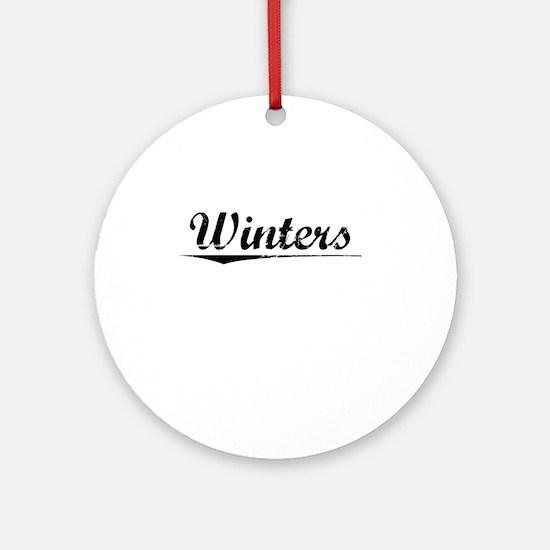 Winters, Vintage Round Ornament