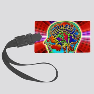 Abstract coloured MRI scan of th Large Luggage Tag