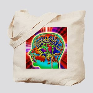 Abstract coloured MRI scan of the human b Tote Bag