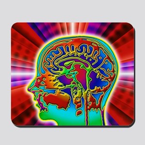 Abstract coloured MRI scan of the human  Mousepad