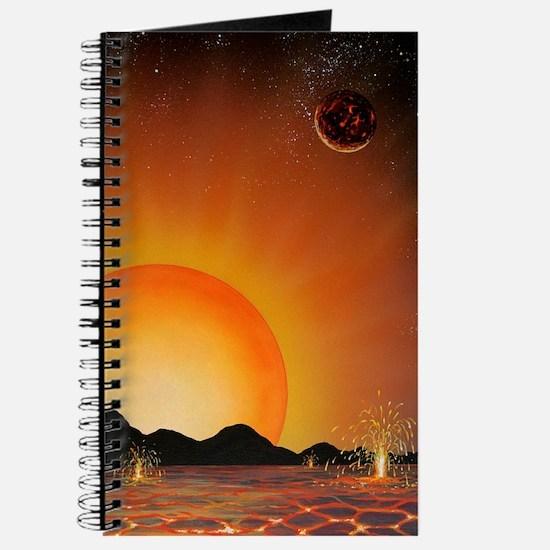 Alien landscape, artwork Journal