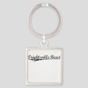 Wrightsville Beach, Vintage Square Keychain
