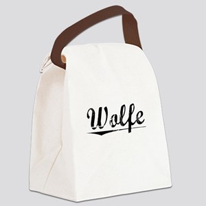 Wolfe, Vintage Canvas Lunch Bag