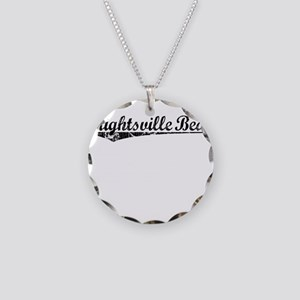 Wrightsville Beach, Vintage Necklace Circle Charm