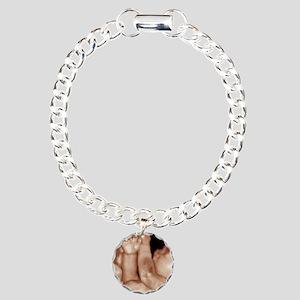 3-D foetal ultrasound Charm Bracelet, One Charm