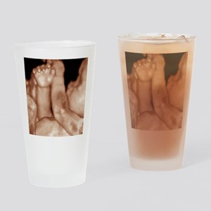 3-D foetal ultrasound Drinking Glass