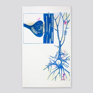 Artwork of a nerve cell of the brai 3'x5' Area Rug